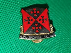 701st Support Battalion Gold And Enamel Latin Phrase Hat Pin.