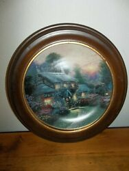 1993 Thomas Kinkade Julianne's Cottage Plate By Knowles