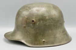 Original German Wwi M1917 Mail Home Helmet Military Collectible