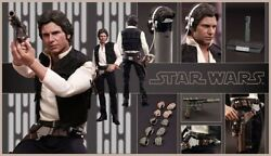 Hot Toys Star Wars Han Solo A New Hope 1/6 Figure Mms261