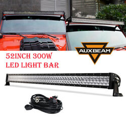 52inch 300w Led Light Bar Flood Spot Offroad Driving Lamp For Jeep Ford Suv Boat
