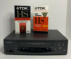 Daewoo Dv-t5dn Vcr 4 Head Vhs Video Cassette Player Recorder - Tested Working