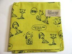 Peanuts Snoopy Handkerchief Cats Yellow Size52x52cm New Made In Japan 1