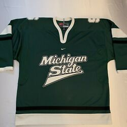 Nwot Vintage Nike Team Michigan State Spartans Hockey Jersey Size Xl New 👀🔥