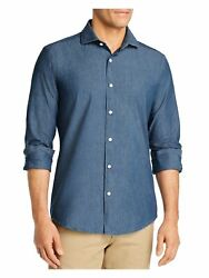 Dylan Gray Mens Navy Long Sleeve Classic Fit Button Down Casual Shirt S