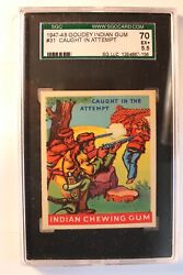1947-48 Goudey Indian 31 Caught In Attempt - Sgc-70