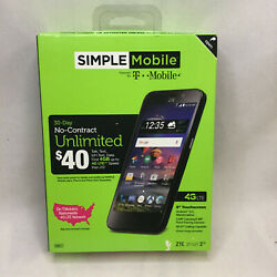 Zte Zfive 2 Z836bl 8gb Black Tracfone Android Phone - Parts Only Read