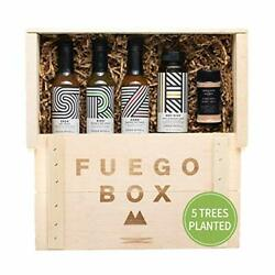 Fuego Eco Crate - Spicy Hot Sauce Gift Set That Plants 5 Trees - Includes Hot
