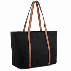 Tote for Women Leather Nylon Shoulder Bag Women#x27;s Oxford Large Capacity Black $56.99