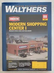 Walthers Cornerstone Ho Scale Modern Shopping Center I 933-4115