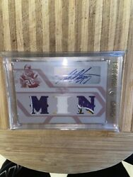 Adrian Peterson 2008 Topps Triple Threads 1/1 Printing Plate Jersey Combo Auto