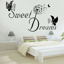 Sweet Heart Butterfly Love Quote Wall Stickers Bedroom Removable Decals DIY New