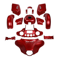 Fairing Body Work Kit Fit For Harley Street Glide Special 14-up Wicked Red Denim