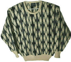 Vintage Sovrano Pure New Wool Jumper Sz 16 Coogi Style Warm Winter Chunky Knit