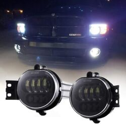 Fog Lights Led 63w Lamps Driver And Passenger Replacement For Dodge Pickup Truck