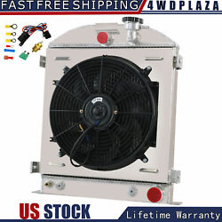 3 Rows Radiator Shroud Fan For 1932 Street Rod Chevy Outlets Trans Cooler 25 H