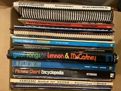Lot Of 37 Sheet Music Song Books For Guitar-piano-harmonica-beatles