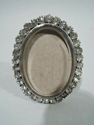 Victorian Frame - Antique Photo Picture Small Oval - English Sterling Silver