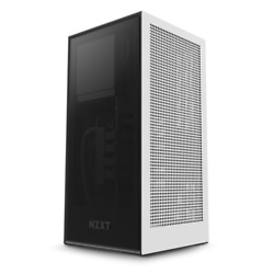 Nzxt H1 Matte White Computer Sff Case With Psu Aio And Riser Card