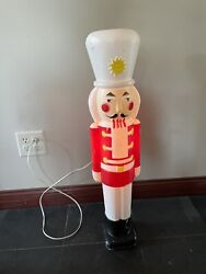 Vintage Nutcracker Soldier Christmas-blow Mold Union Products 30 Tall Works