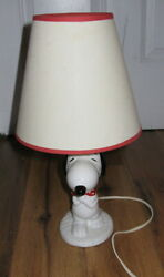 Vtg Peanuts Snoopy Lamp 1958 1966 With Original Lampshade United Syndicate Rare