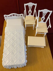 Barbie Dream House Doll Furniture Mattel Replacement Vtg 1998 Bed Chairs Chest