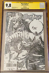 Moon Knight 1 Cgc 9.8 Finch 1/200 Sketch Variant Cover 2006 Marvel Disney+ Nm
