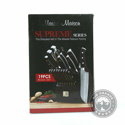 OPEN BOX Master Maison Supreme Series German Cutlery in Black Stainless Steel