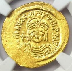 Ngc Eastern Roman Empire Maurikius Byzantine Ms Solidas Gold Coin Ad 582-602