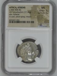 Ngc Appraised Antique Coins Ms 3/5 5/5 Products Used Attica Athena 440-404 Bc