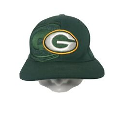 Green Bay Packers Nfl Mens Embroidered Baseball Hat Cap Fitted Sz L/xl Duel Logo