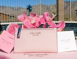 🌸 NWT kate spade Spencer Small Slim Bifold Leather Wallet Tutu Pink New 🌸 $63.99