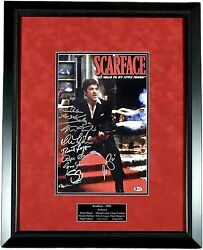 Al Pacino Autographed Signed Scarface 11x17 Cast Photo Poster Framed Bas Beckett