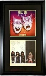 Motley Crue Autographed Hand Signed Album Cover Flat Framed Theatre Of Pain Jsa