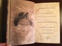 Rare 1837 Territory Of Florida, Topography Climate Indian Tribes, Seminole Wars