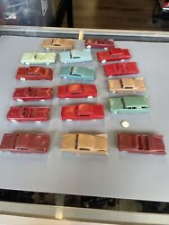 Vintage Lot Of 17 F And F Mold And Die Works Plastic Cars Cereal Premiums
