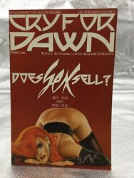 Cry For Dawn 5 1st Print Cfd Comics Spring 1991 Does Sex Sell Joseph Linser