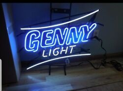Genesee Beer Genny Light Neon Light Up Sign Bar Game Room Rochester By Mib