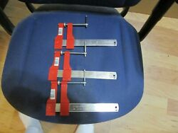 3 New Old Stock Stanley 83-157 6 Adjustable Steel Bar Clamps Clamp Lot Usa
