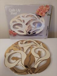 Calla Lily Trivet By Wa. Rogers Free Shipping