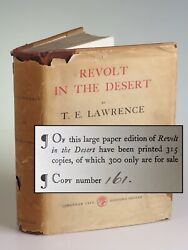 T. E. Lawrence - Revolt In The Desert 1927 Cape Limited Issue 161 Of 315