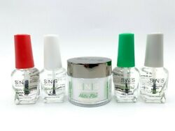 Sns Gel Base Top Base Sealer Dry Set Of 4 With French White Dipping Powder