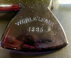 Pair Of 1893 Worldand039s Fair Glass Hatchets Reproduction Father Of This Country