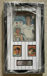 Mickey Mantle Signed Magazine W/ Shadow Box, 1958 + 1959 Topps Cards Auto Jsa