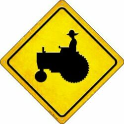 Farm Tractor Crossing Sign Large Tin Sign New