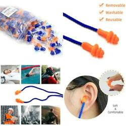 Individually Wrapped Non Toxic Soft Silicone Corded Ear Plugs Reusable