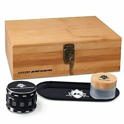 Xl Wood Stash Box Kit With Rolling Tray, Locking Smell Large Wooden Hinges