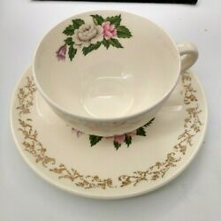 Vintage Gorgeous British Empireware Cup And Saucer 22k Gold - 1940and039s3sets Avail.