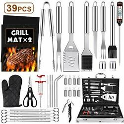Bbq Grill Accessories Tools Set, 39pcs Stainless Steel Grilling Barbecue Tool