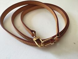 """Authentic LOUIS VUITTON LV Shoulder Bag Strap Leather Beige 47"""" made in france $200.00"""